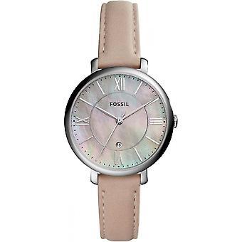 Fossil horloge Jacqueline ES4151 - Watch analoge Beige leder vrouw