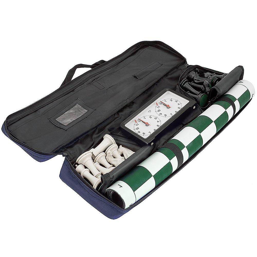 Chess Club Pack with Pieces, Board, Clock, Bag & Scorebook Green