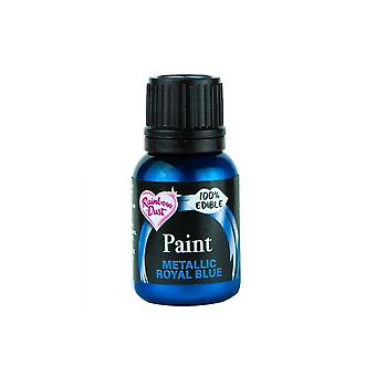 Regenbogen Staub Metallic Food Paint 25ml Metallic Royal Blue