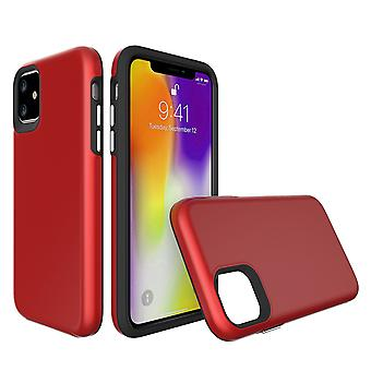 Para la funda del iPhone 11, cubierta fuerte de protección a prueba de golpes rojo