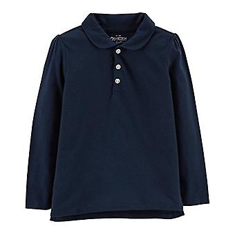 Osh Kosh Girls' Long Sleeve Uniform Polo Shirt, Navy 1, 10-12