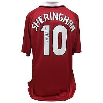 Manchester United Sheringham Signed Shirt