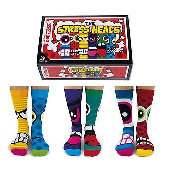 Mens Stress Heads Novelty Oddsocks