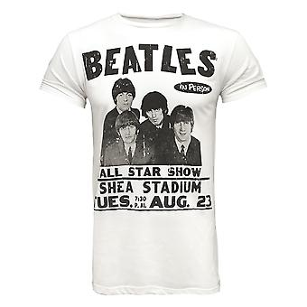 Amplified Beatles Shea Stadium White Men's T-Shirt