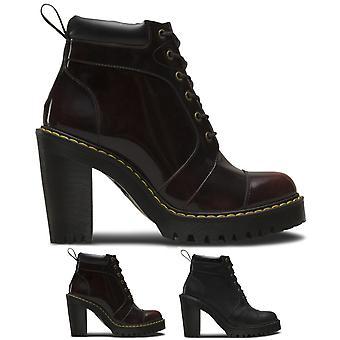 Womens Dr Martens Averil Fusion Seriene Originals Leather Block Heel Boot