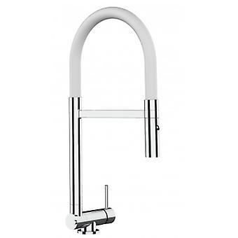Single-lever Kitchen Sink Mixer met 360° beweegbare opvouwbare tuit (slechts 4,5 cm) en 2 jets spray - 509