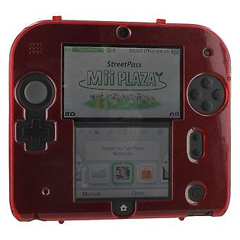 Zedlabz polycarbonate plastic hard case protective armour cover shell for nintendo 2ds – red