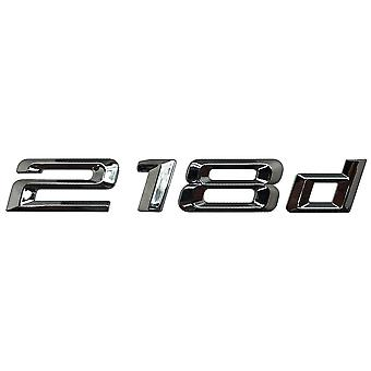 Silver Chrome BMW 218d Car Model Rear Boot Number Letter Sticker Decal Badge Emblem For 2 Series F22 F45 F46