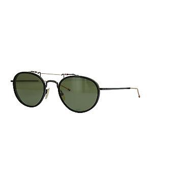 Thom Browne TBS815 01 Black Black Iron White Gold/G15 Sunglasses