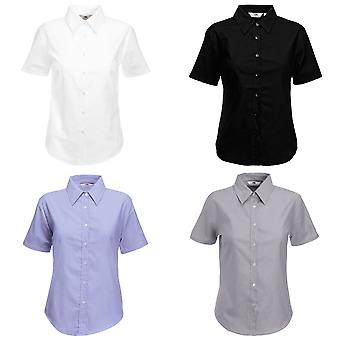 Fruit Of The Loom Ladies Lady-Fit Short Sleeve Oxford Shirt