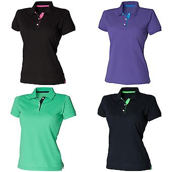 Henbury Womens/damer Slim Fit kontrast 65/35 Polo Shirt