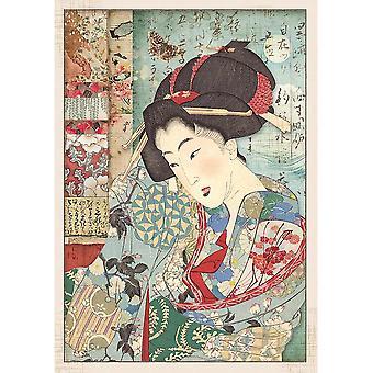 Stamperia Rice Paper A4 Geisha