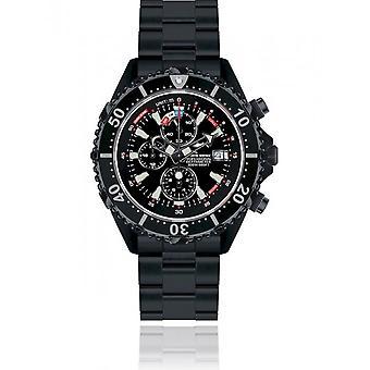 CHRIS BENZ - Diver's Watch Watch - DEPTHMETER CHRONOGRAPH 300M BLACK EDITION - CB-C300-LE-MBS