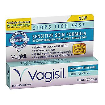 Vagisil sensitive skin formula maximum strength anti-itch creme, 1 oz