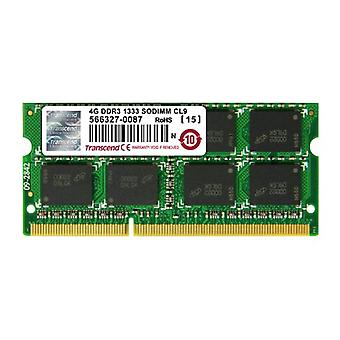 Transcend JM1333KSN-4G, 4 GB DDR3, 1333 Mhz, SO-DIMM, 2Rx8 1.5 V