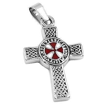 Celtic knot  cross knights templar pendant