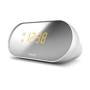 klokke-radio Philips AJ2000/12 LED FM hvit