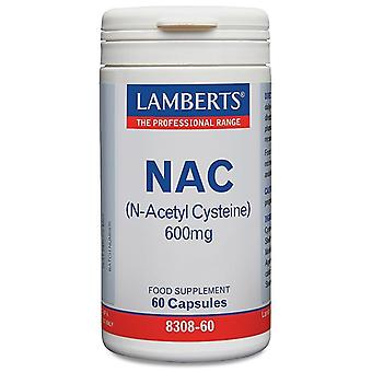 Lamberts N-Acetyl Cysteine (NAC) Caps 60 (8308-60)