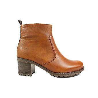 Ara Madison-St 67346-78 Tan Leather Womens Heeled Ankle Boots