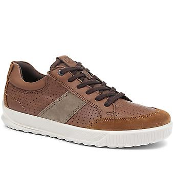 Ecco Mens Byway Lace-Up Leather Trainer