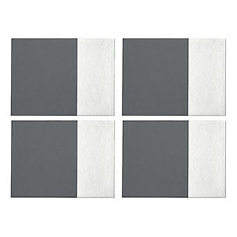 Premier Housewares Leather Effect Placemats, Grey