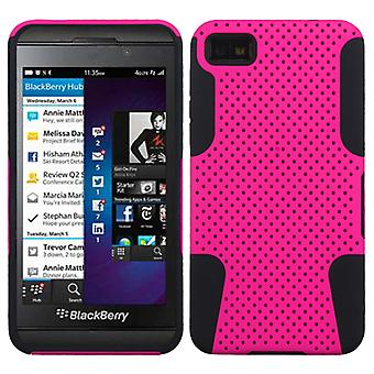 ASMYNA Astronoot Protector Case for BlackBerry Z10 - Hot Pink/Black