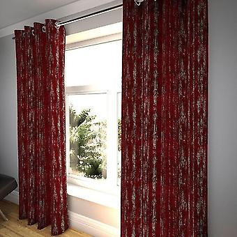 Mcalister textiles textured chenille wine red curtains
