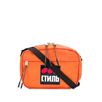 Heron Preston Ezcr020007 Men's Orange Fabric Messenger Bag