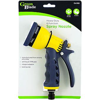 Green Blade BB-GA109 Plastic Heavy Duty 6-Function Spray Nozzle Gun