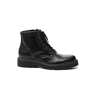 Marni Tcmr002702p372900n99 Men's Black Leather Ankle Boots