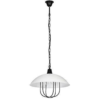 Perseus Suspension Lampe Black Metal Couleur, L38xP38xA93 cm