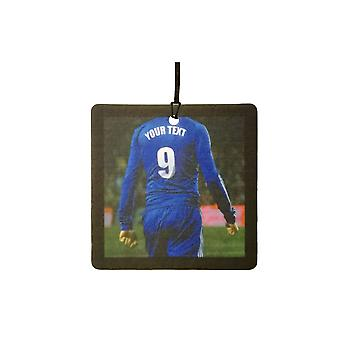Custom Football / Soccer Player (All Blue) Car Air Freshener