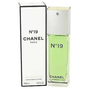 Chanel 19 Eau De Toilette Spray By Chanel 3.4 oz Eau De Toilette Spray