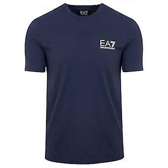 EA7 Navy Short Sleeve Tape Logo T-Shirt