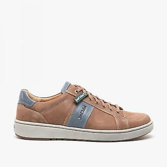 Josef Seibel David 01 Mens Leather Casual Trainers Brown