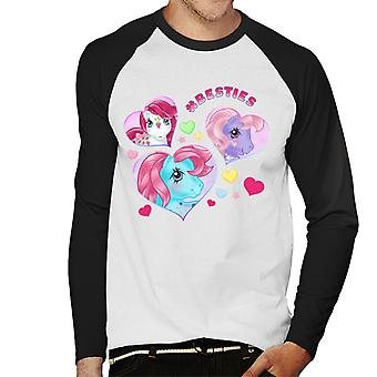 My Little Pony Hashtag Besties Men's Baseball Long Sleeved T-Shirt