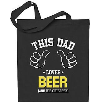 Tämä isä rakastaa olutta ja hänen lapsensa totebag