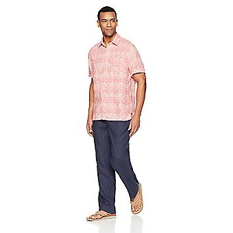 28 Palms Men's Relaxed-Fit Linen Pant with Drawstring, Blue Night, Medium/34