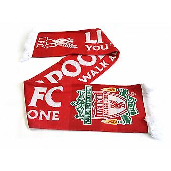 Liverpool FC Official Gold Standard 2018 Jacquard Knit Scarf
