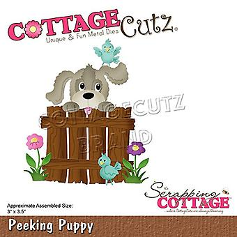 Scrapping Cottage Peeking Puppy