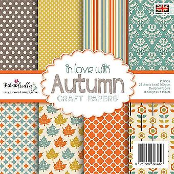 Polkadoodles in love with Autumn 6x6 Inch Paper Pack