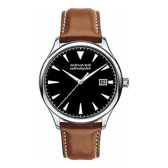 Movado Heritage Calendoplan 3650001 Brown Learher Men's horloge
