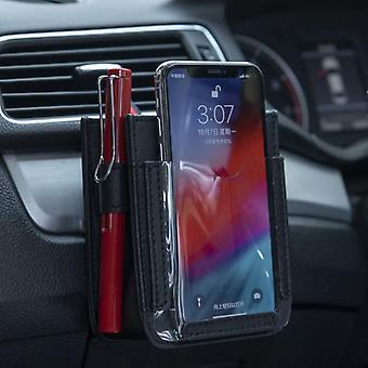 Wielofunkcyjny samochód kieszonkowy samochodowy odpowietrznik, pokrowiec do przechowywania telefonów komórkowych -
