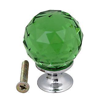 K9 30MM Green Door Crystal Drawer Cabinet Pull Handle