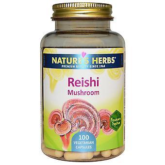 Nature's Herbs, Reishi Mushroom, 100 Veggie Caps