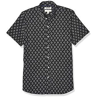 Brand - Goodthreads Men's Slim-Fit Short-Sleeve Printed Poplin Shirt, Diamond Geo XX-Large