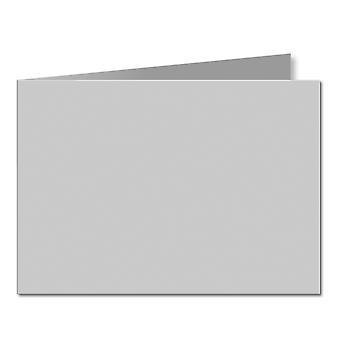 Sølvgrå. 148mm x 420mm. A5 (kortside). 235gsm brettet kort tomt.