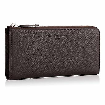 Cocoa Brown Richmond Leather Zip Wallet