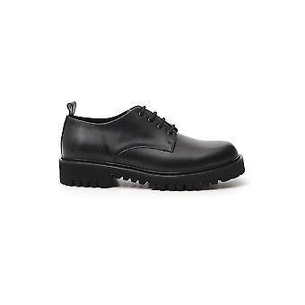 Valentino Garavani Ty2s0d12dgq0no Men's Black Leather Lace-up Schoenen