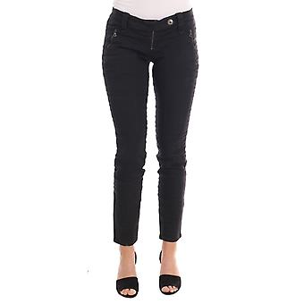 Ermanno Scervino Black Cotton Slim Fit Jeans PAN20001-1